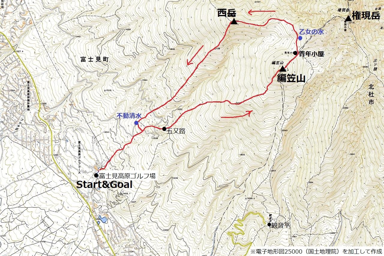 210211編笠山-map