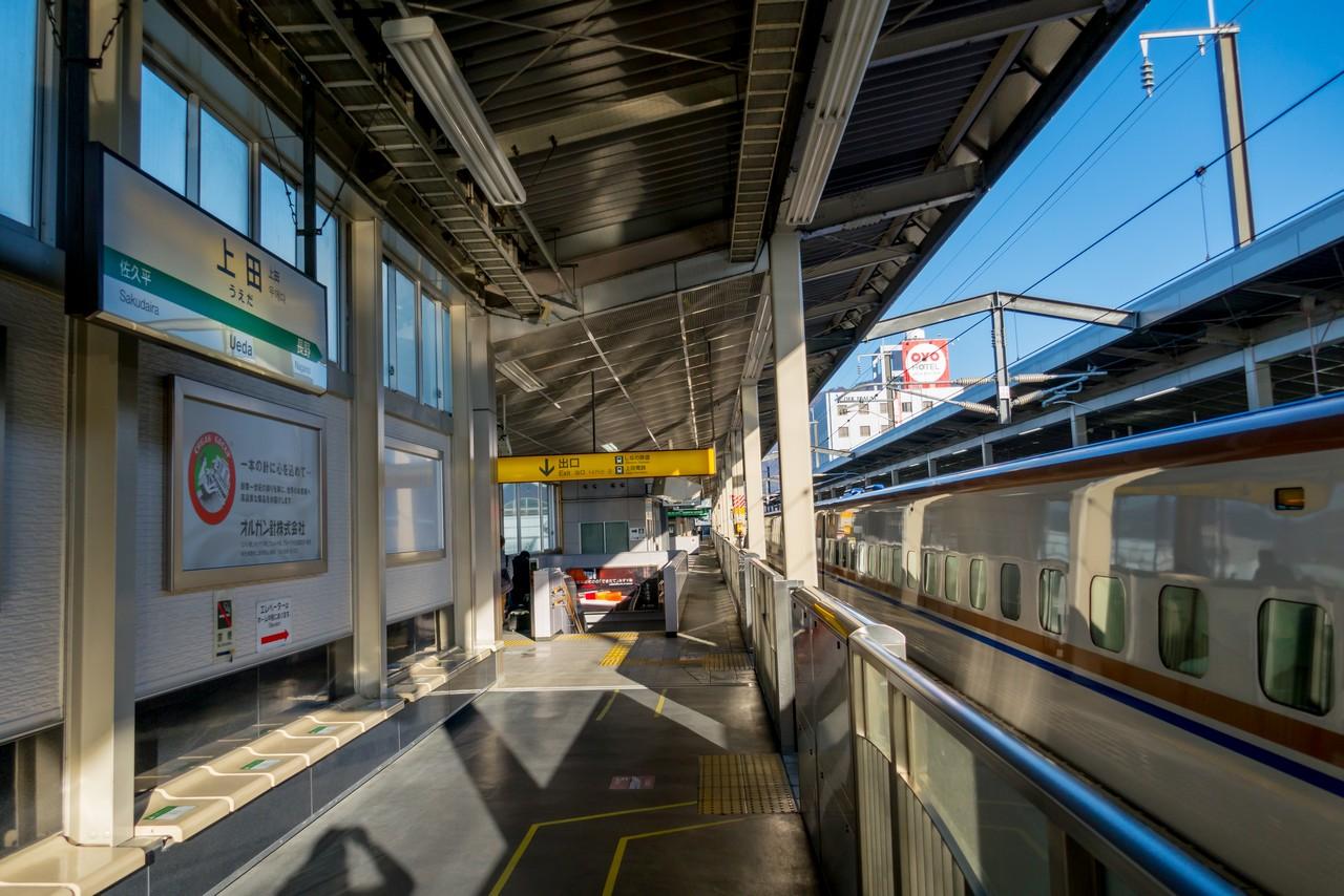 上田駅のホーム