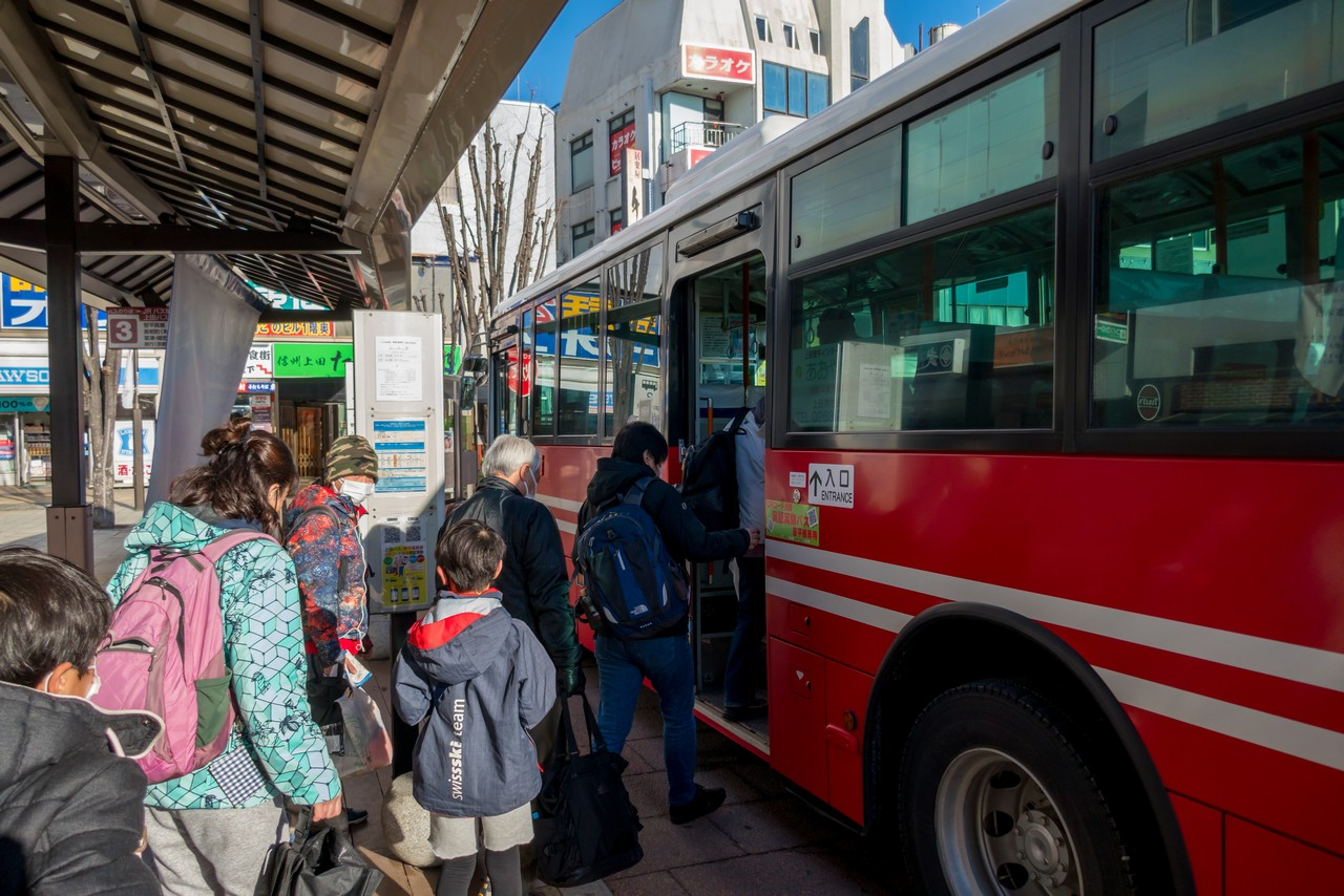菅平高原行きのバス