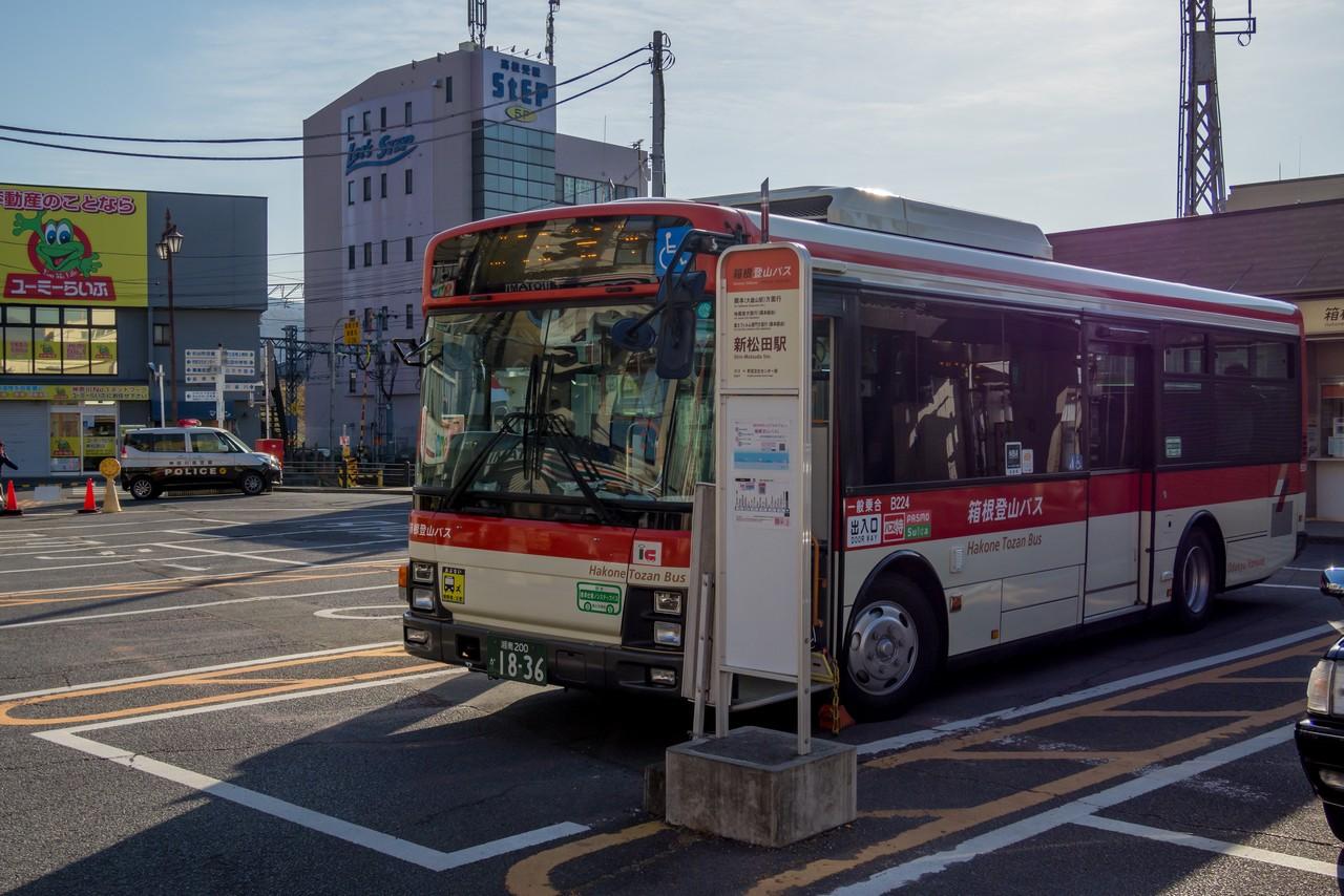 新松田駅に停車する地蔵堂行きのバス