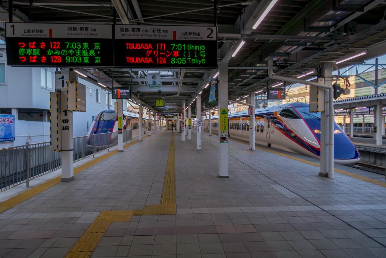 山形駅の新幹線ホーム