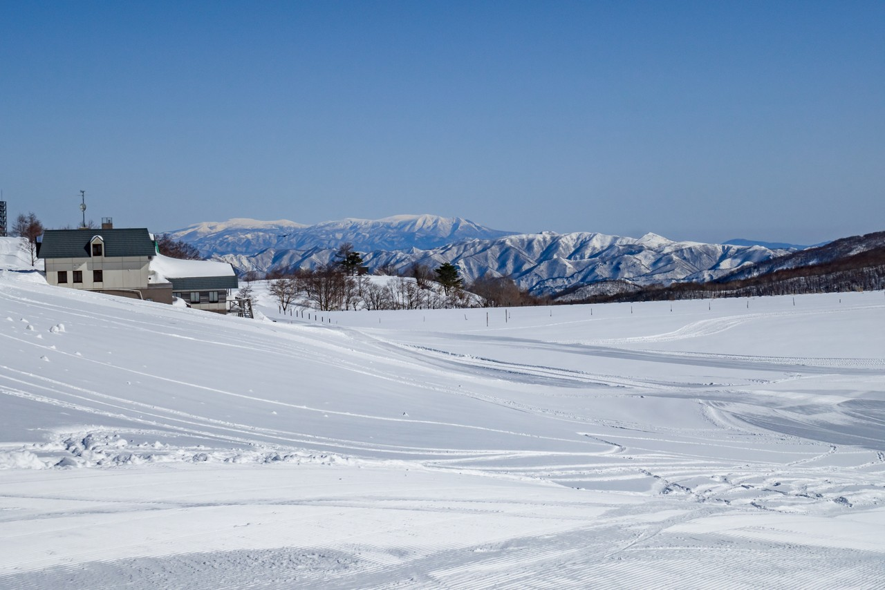 天元台高原から見た蔵王連峰