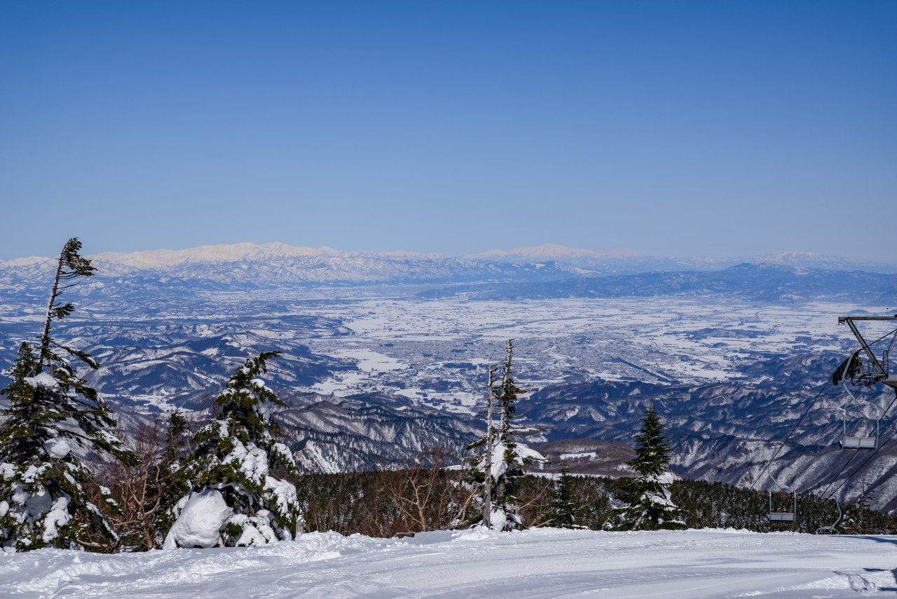 北望台から見た米沢盆地