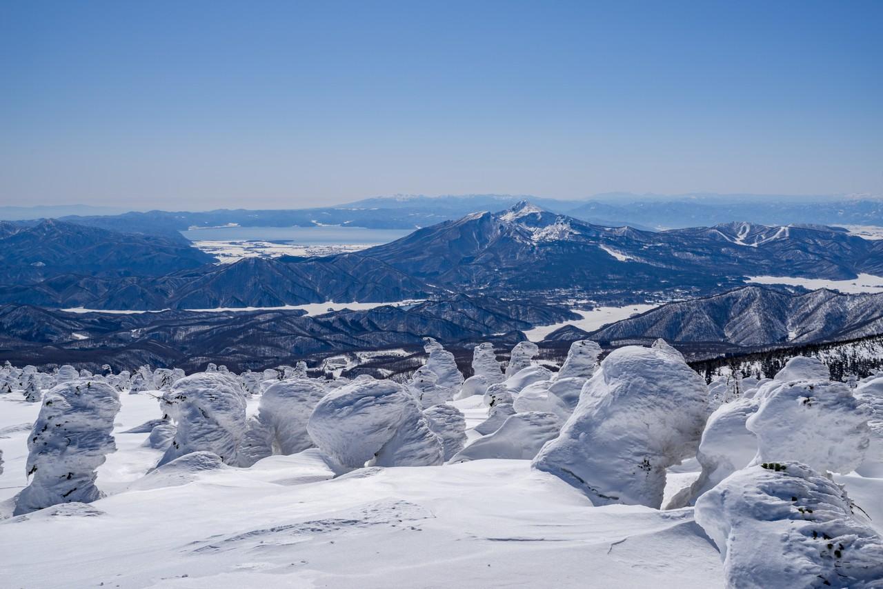 西吾妻山から見た裏磐梯方面