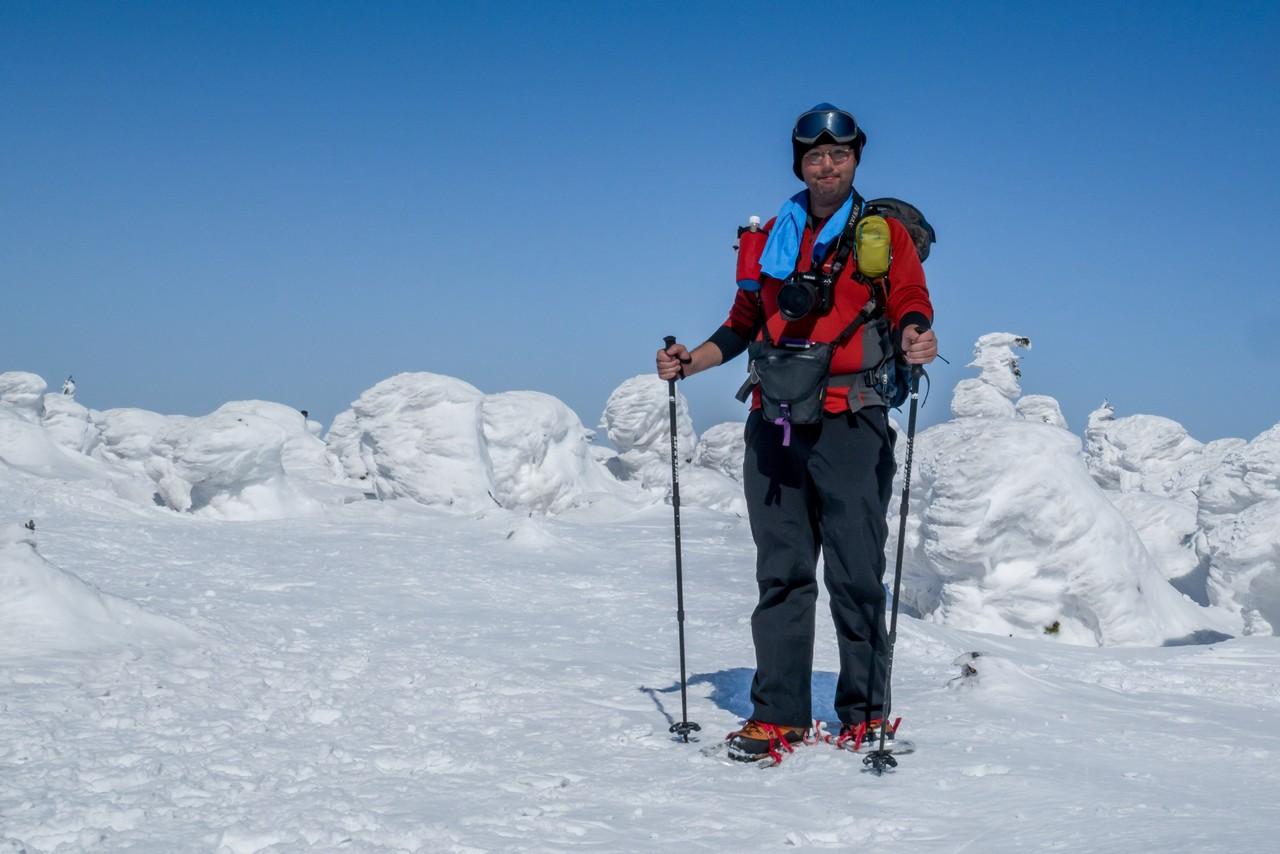 冬の西吾妻山山頂