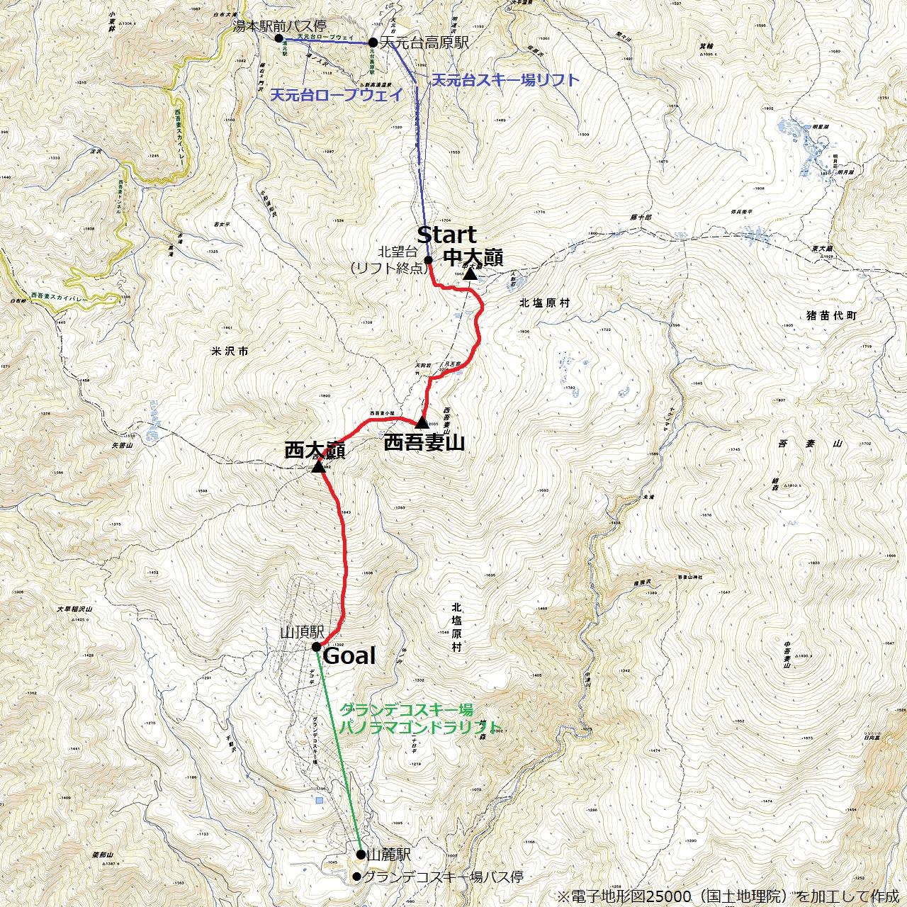 210228西吾妻山-map