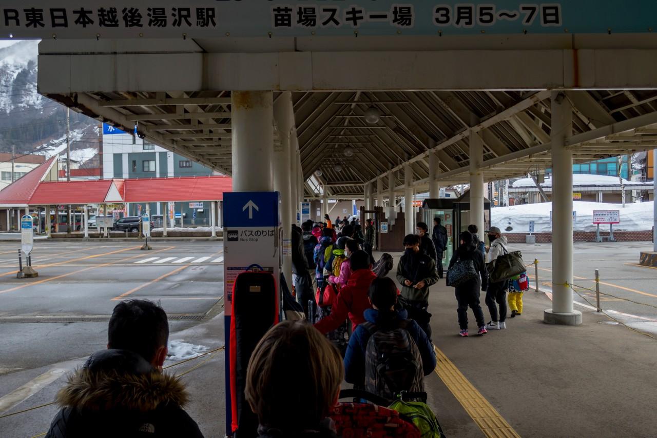 越後湯沢駅のバス乗り場