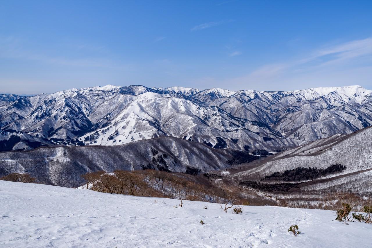ヤカイ沢ルートから見た志賀高原