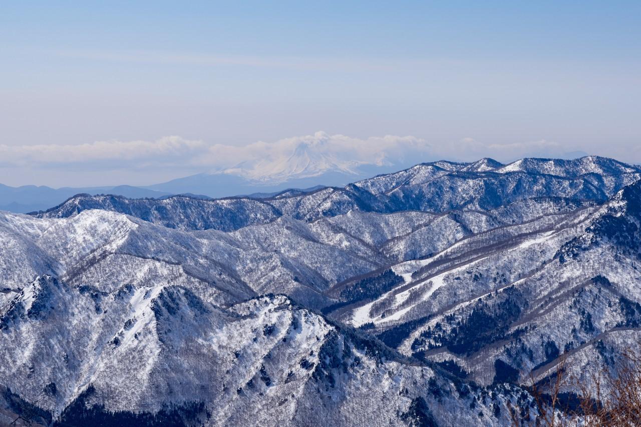 ヤカイ沢ルートから見た浅間山