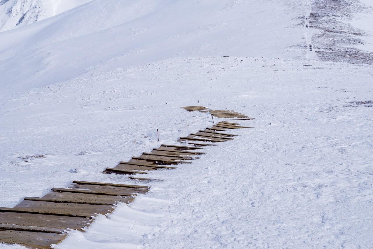 平標山の木階段