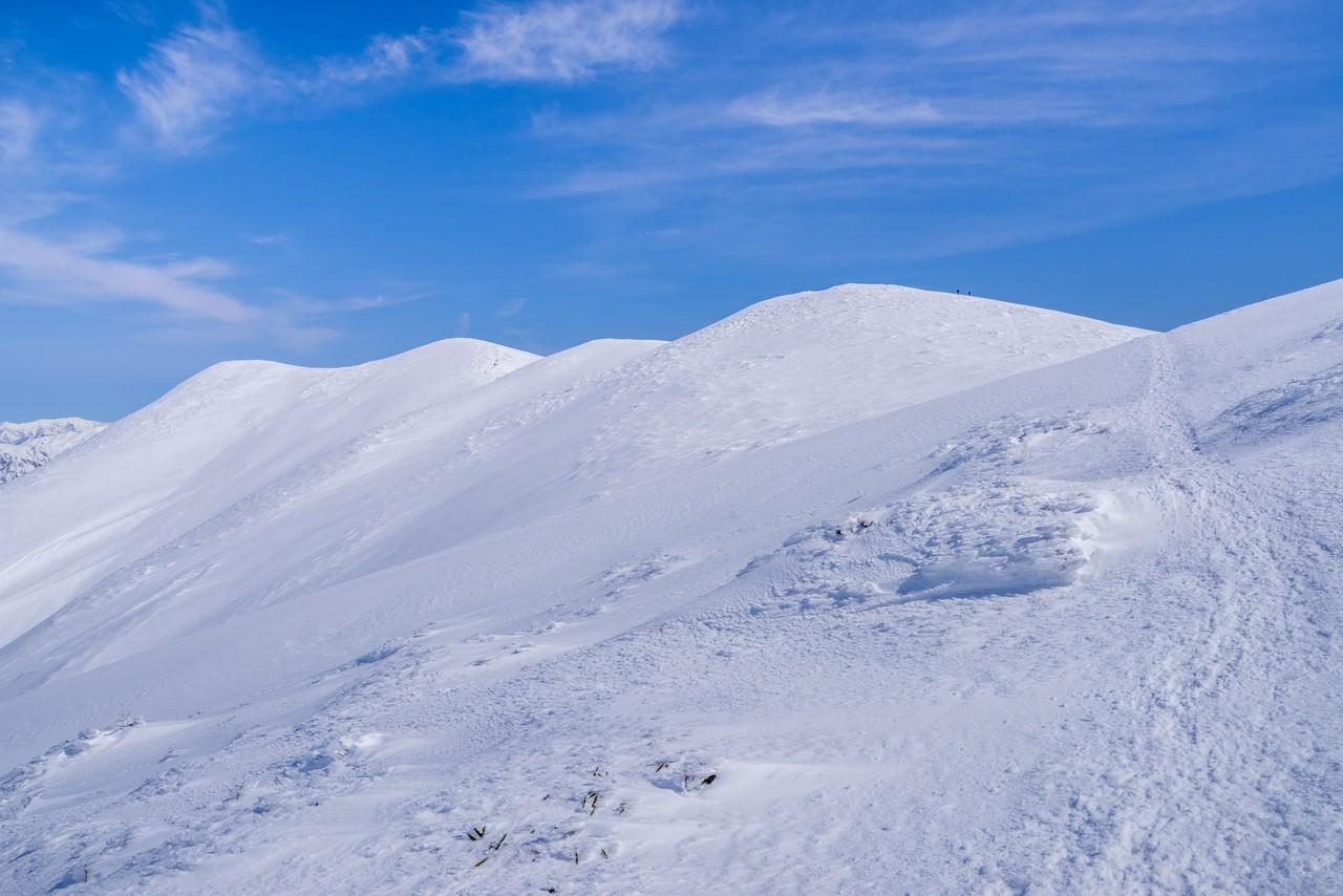 標山から仙ノ倉山へ向かう稜線