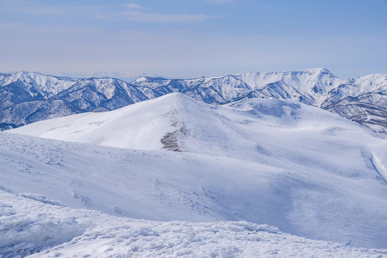 仙ノ倉山から見た平標山