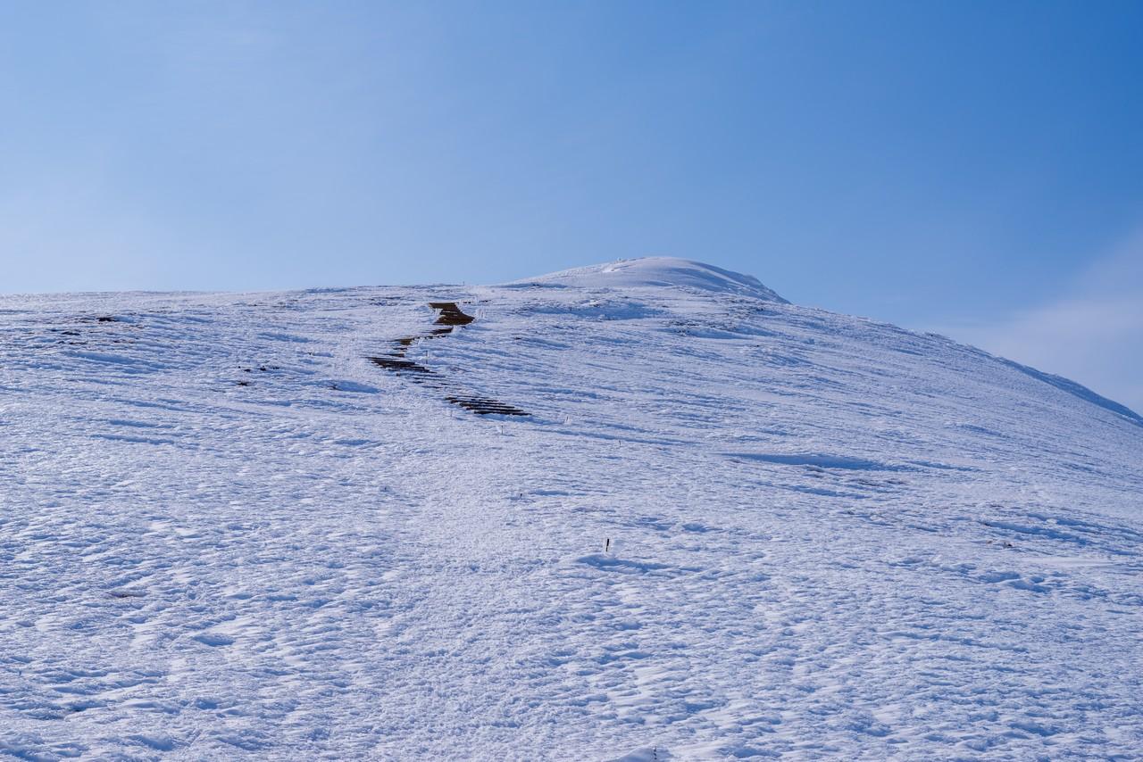 平標山への登り返し