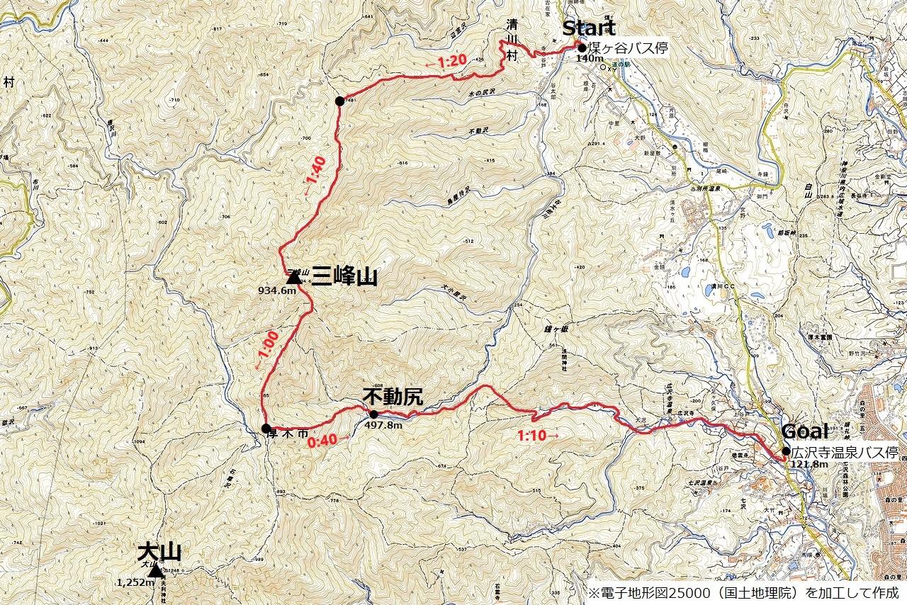 210314大山三峰山-map