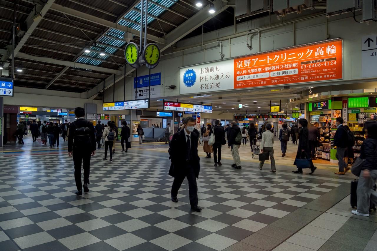 品川駅のエントランス