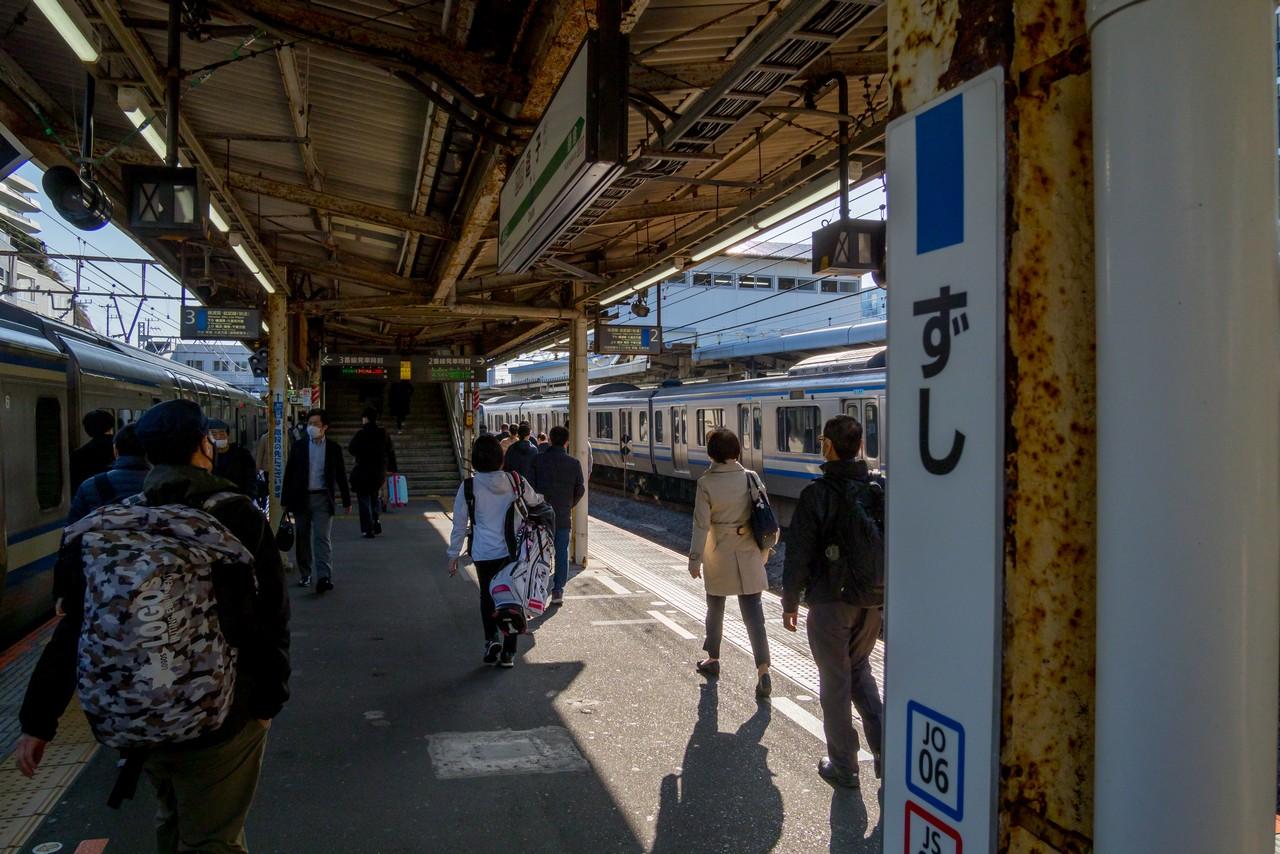 JR逗子駅のホーム
