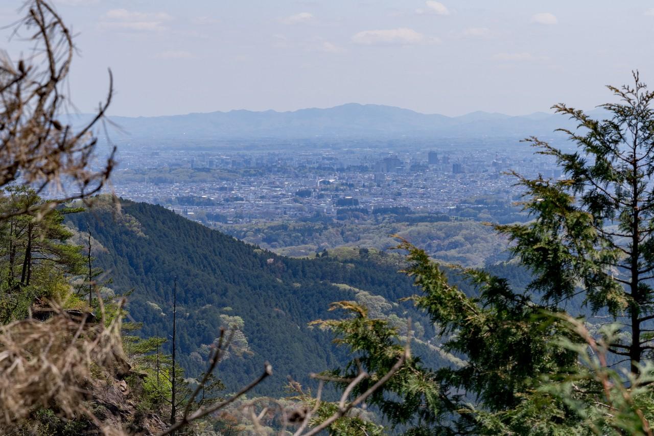 古賀志山から見た宇都宮の市街地
