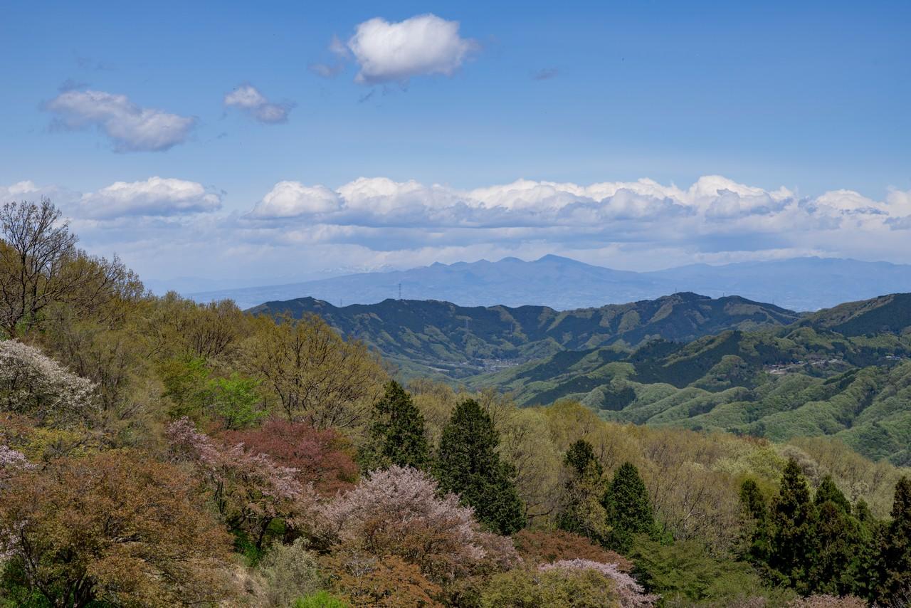 美の山公園から見た赤城山