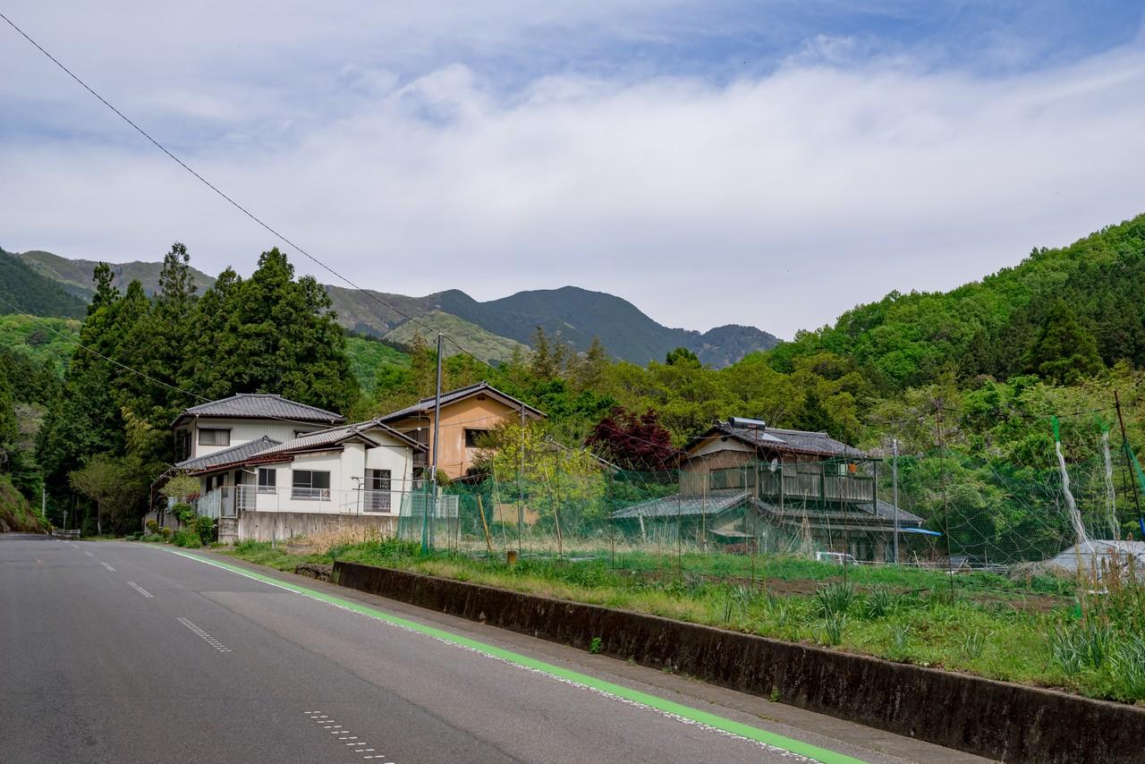 梅田付近から見た鳴神山