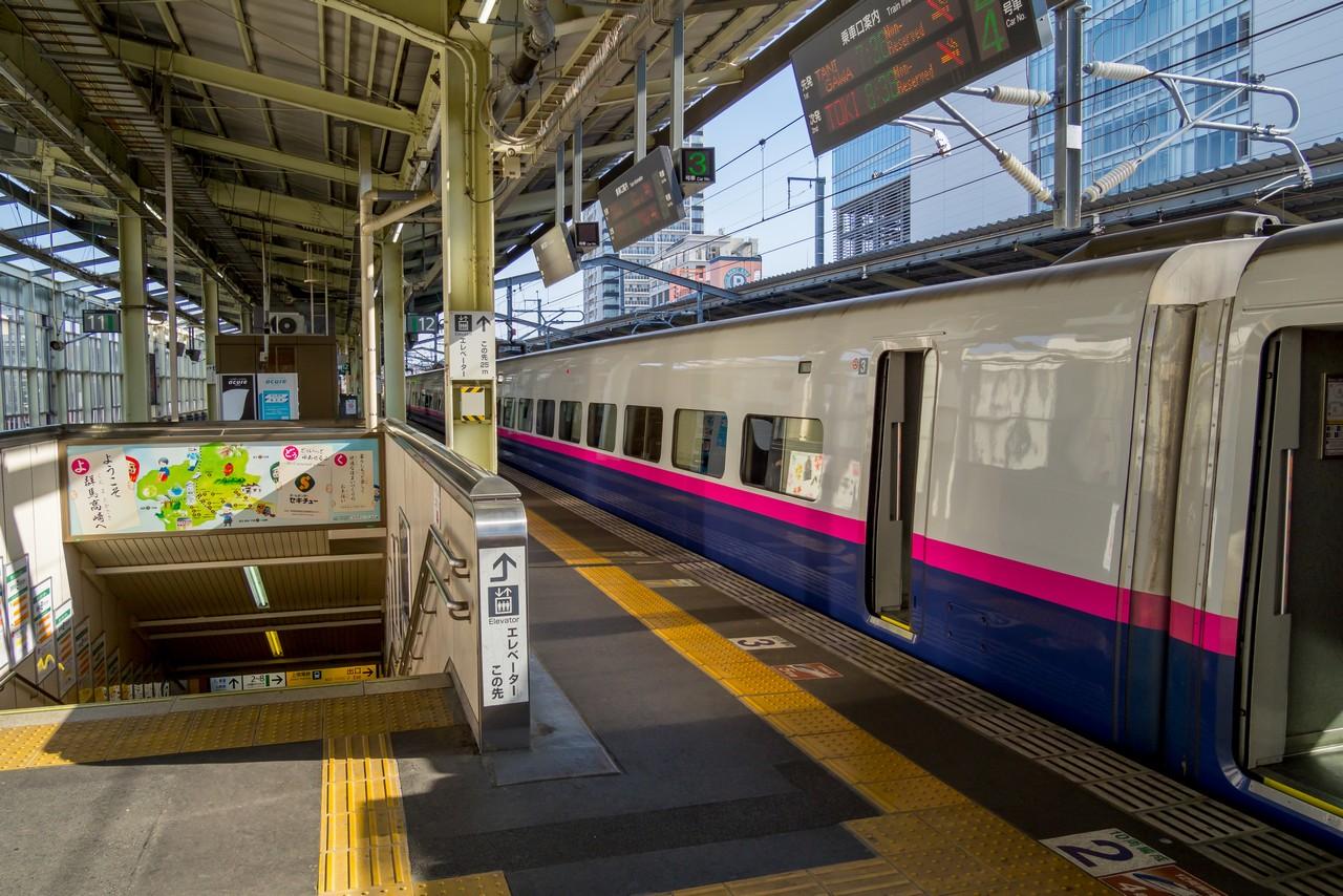 高崎駅の新幹線ホーム