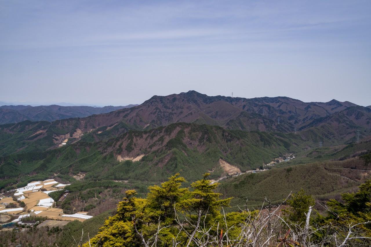 天狗山から見た御座山