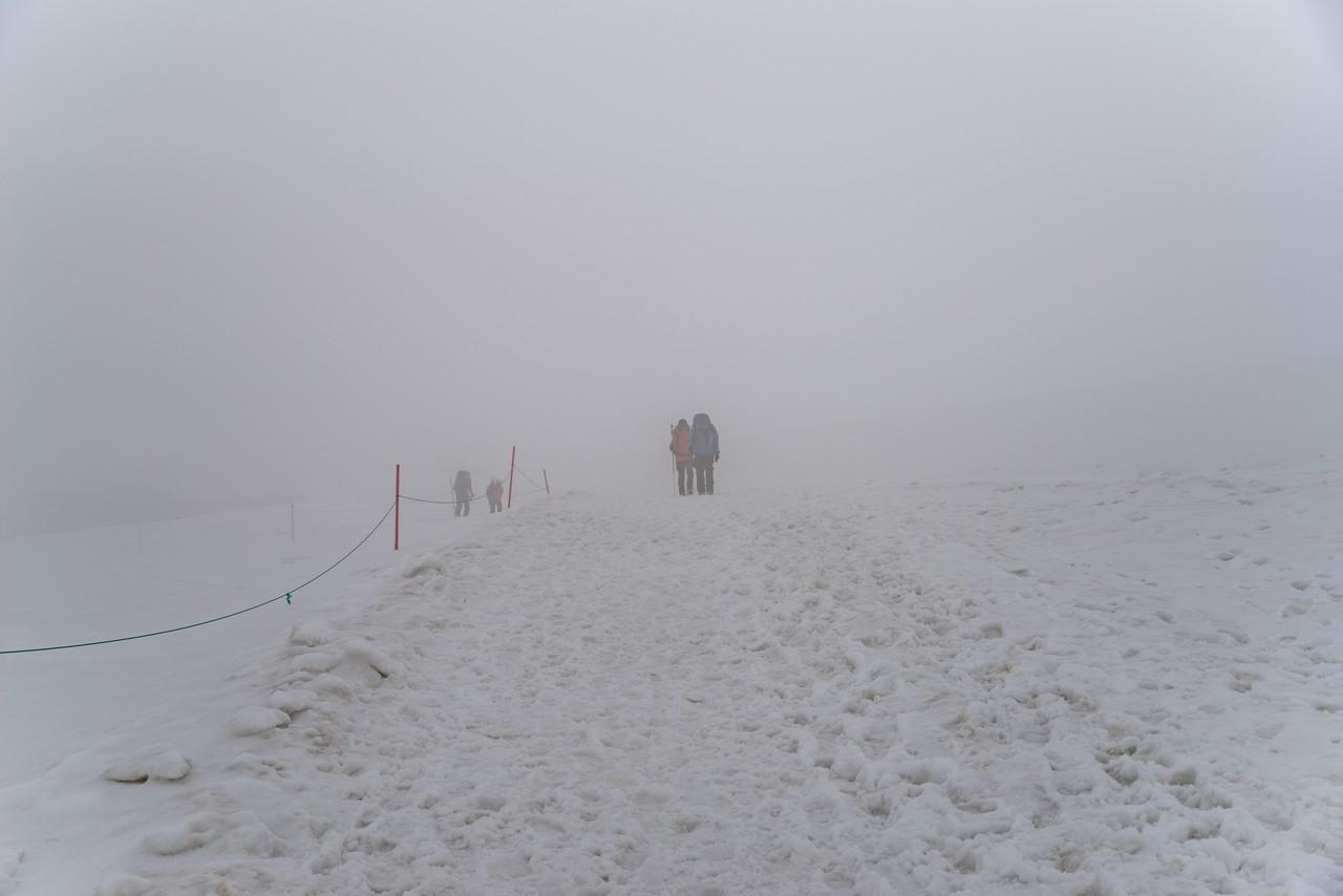 ホワイト状態の立山室堂