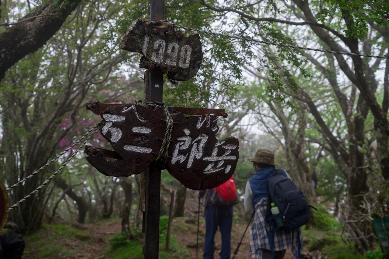 万二郎岳の山頂