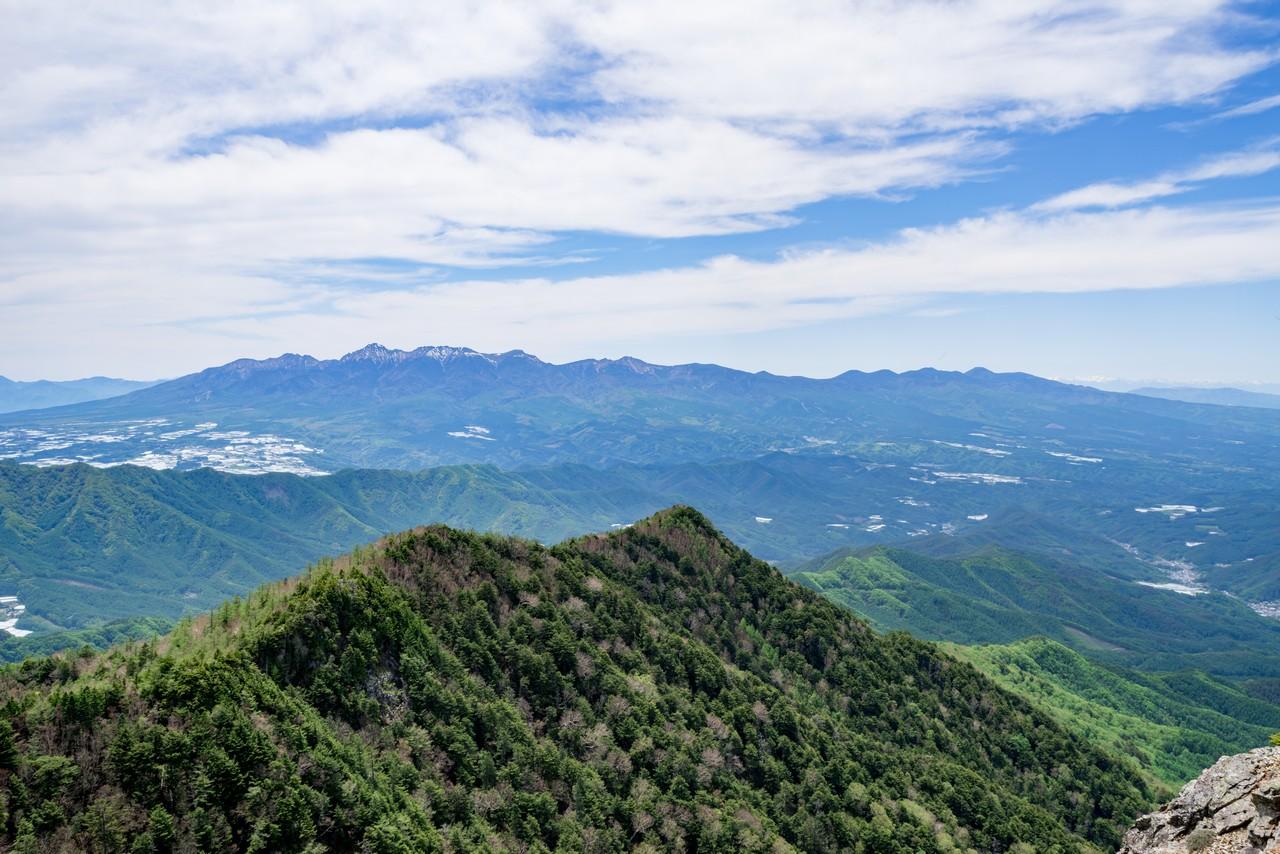 御座山から見た八ヶ岳