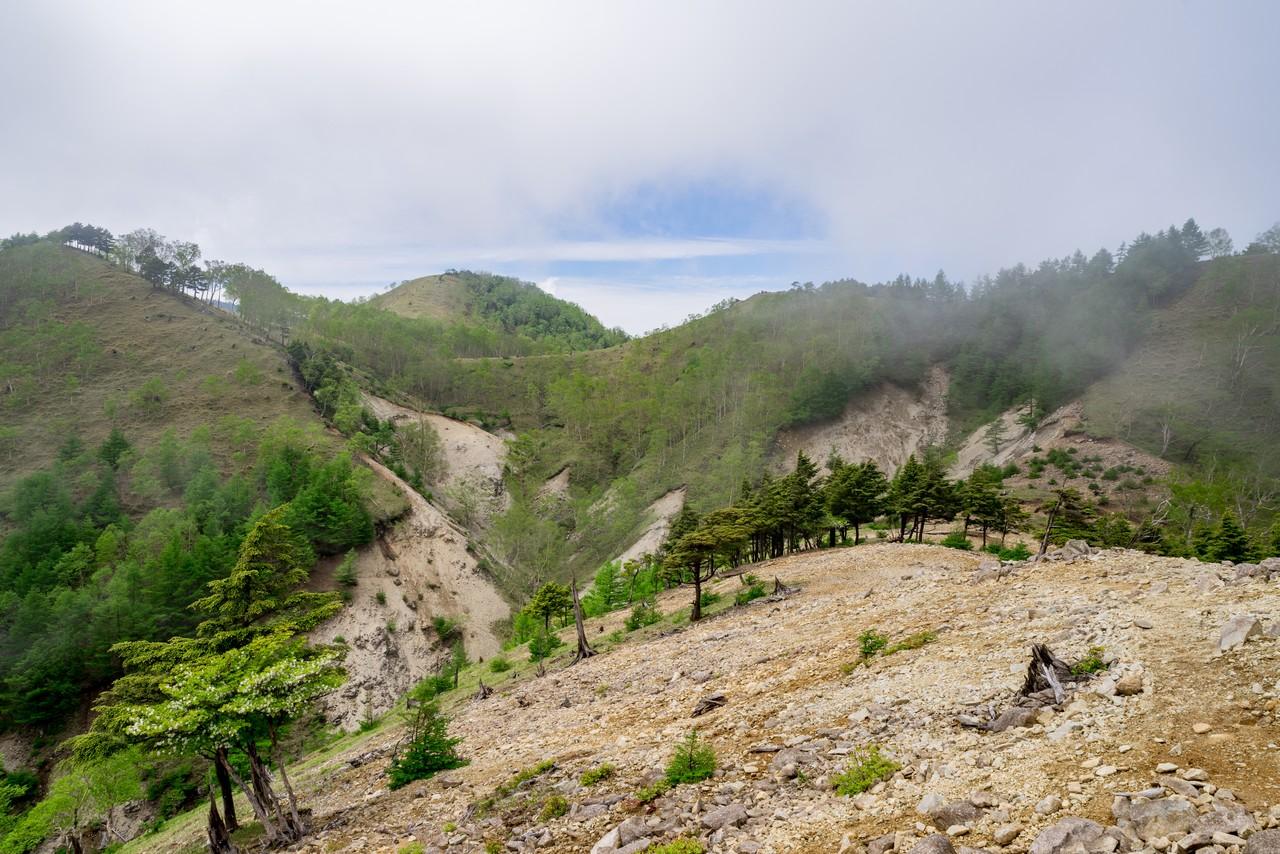 社山から黒檜岳に至る稜線1