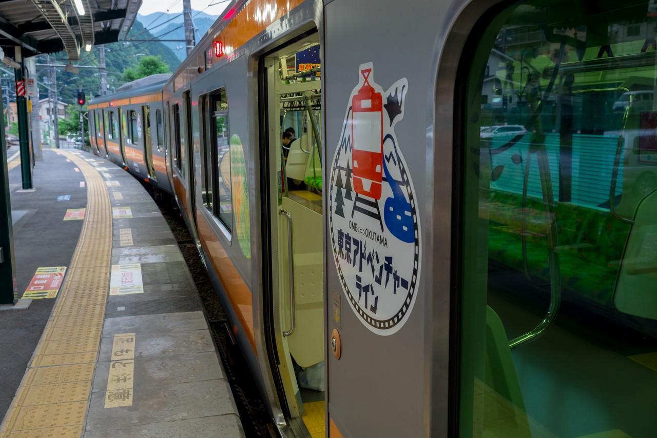 奥多摩駅に停車する青梅線