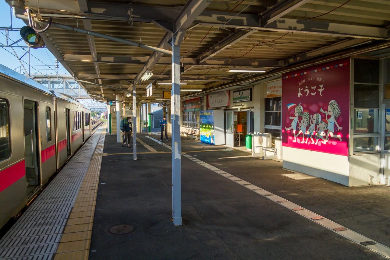 象潟駅のホーム