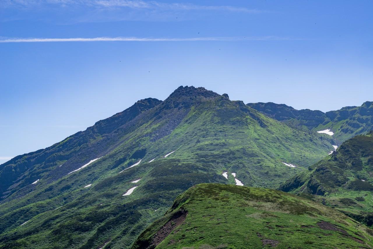 鳥海山の山頂部