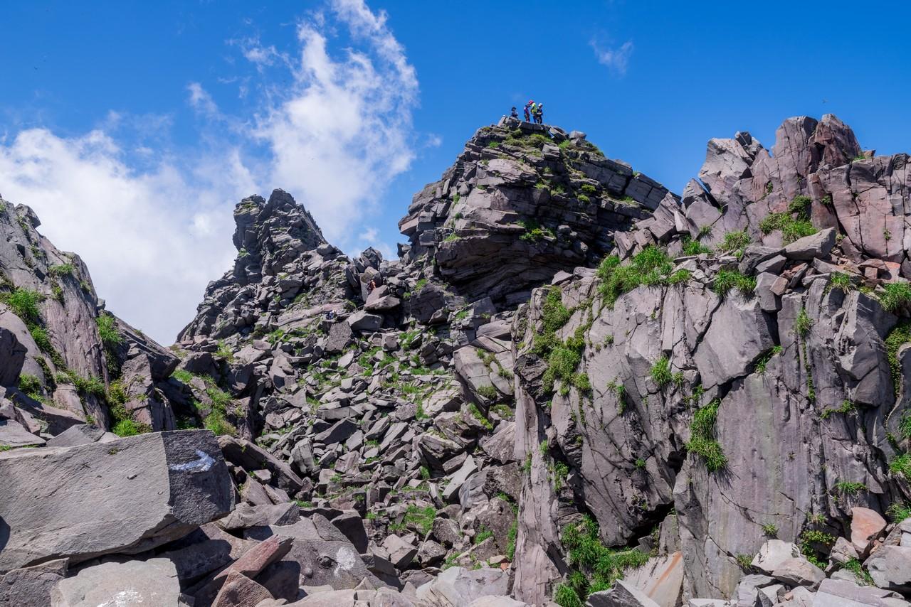 鳥海山 新山の山頂