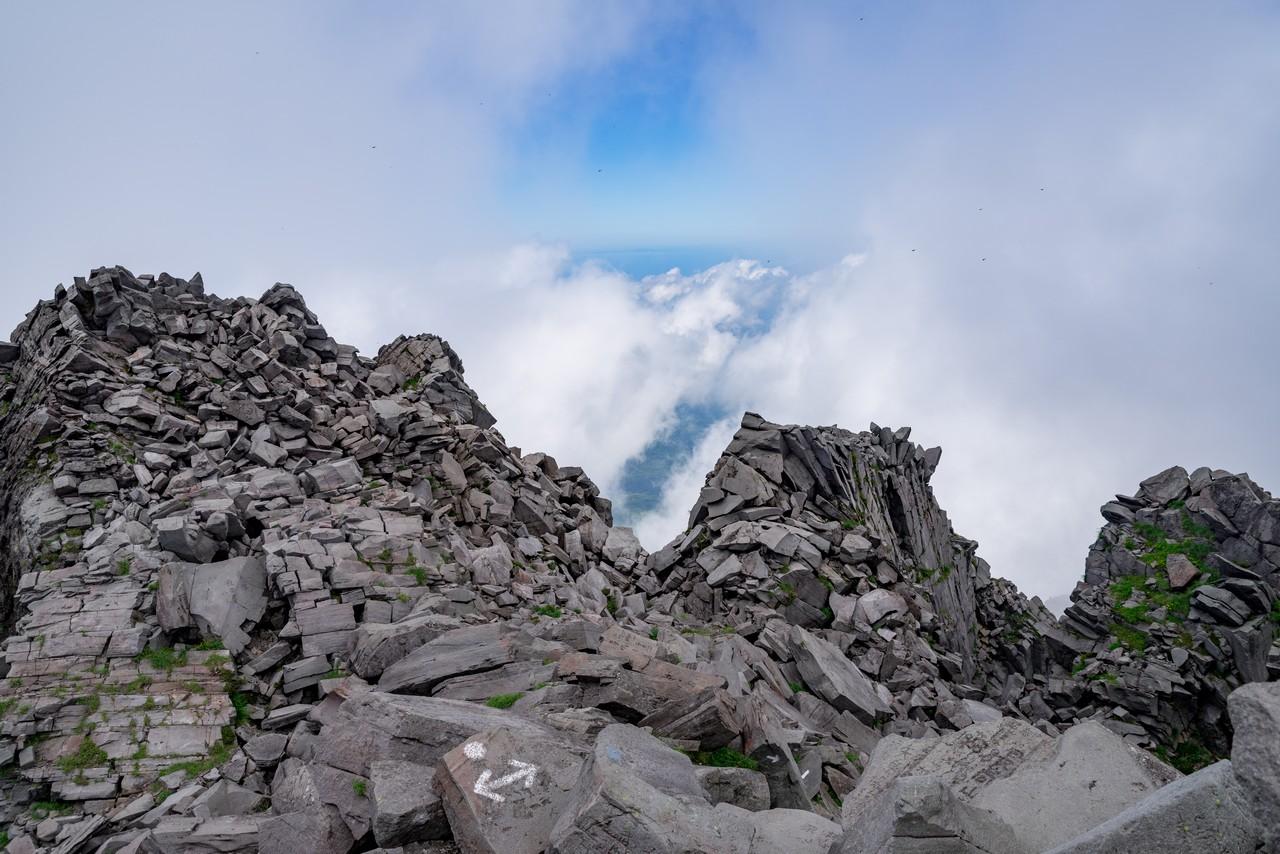 鳥海山の山頂