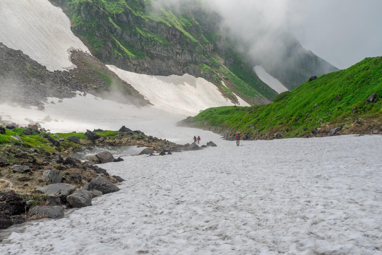 鳥海山 千蛇谷の雪渓