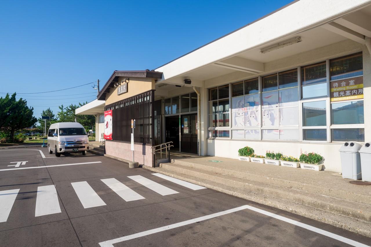 象潟駅の駅前ロータリー