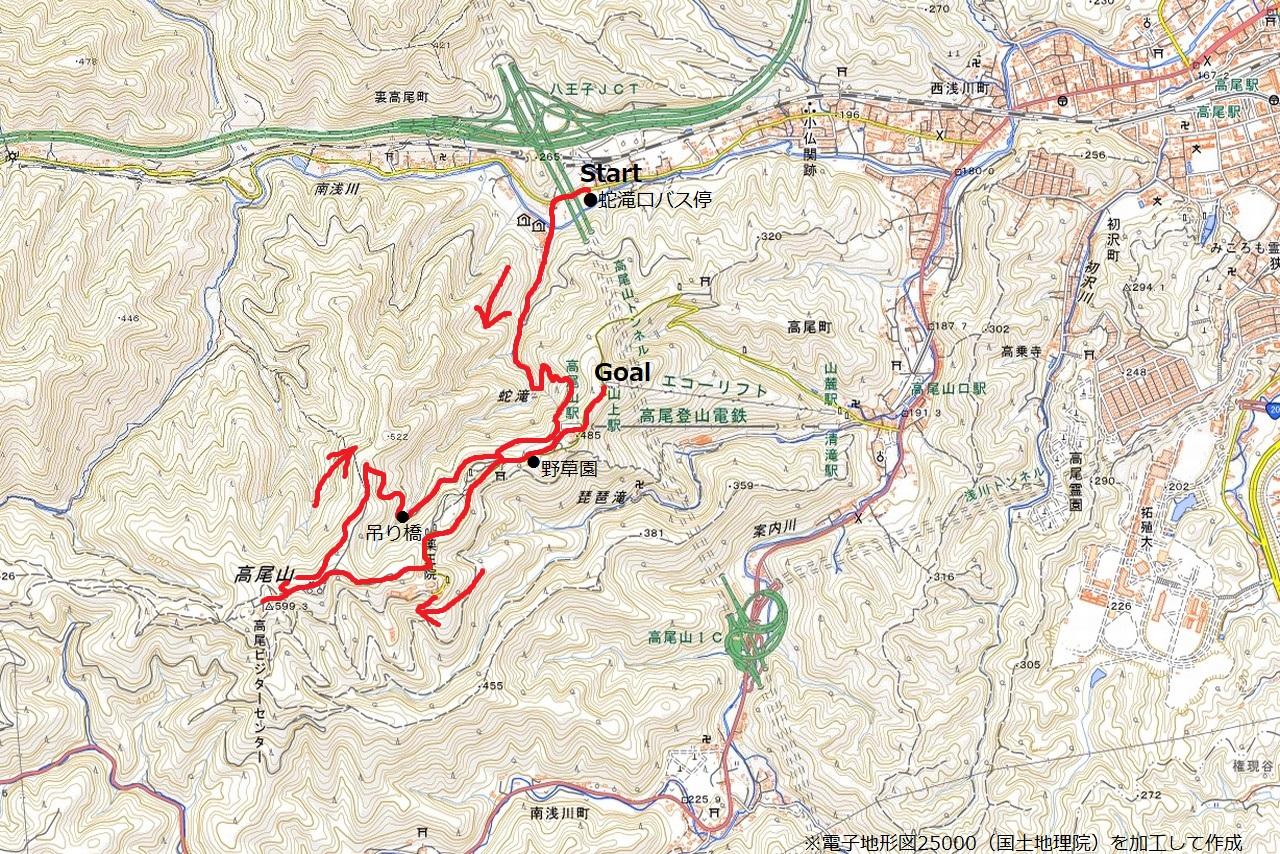 210723高尾山-map
