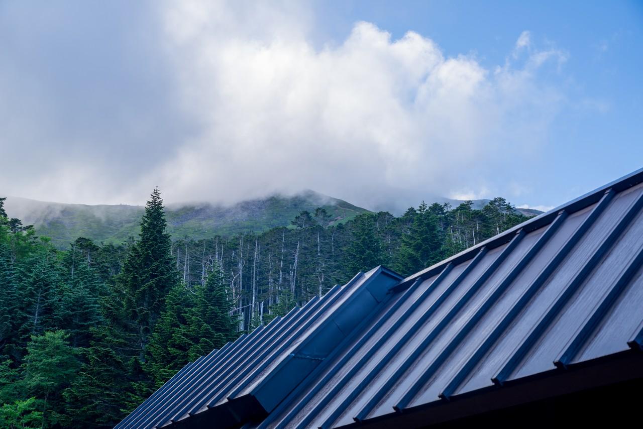 オーレン小屋から見た硫黄岳