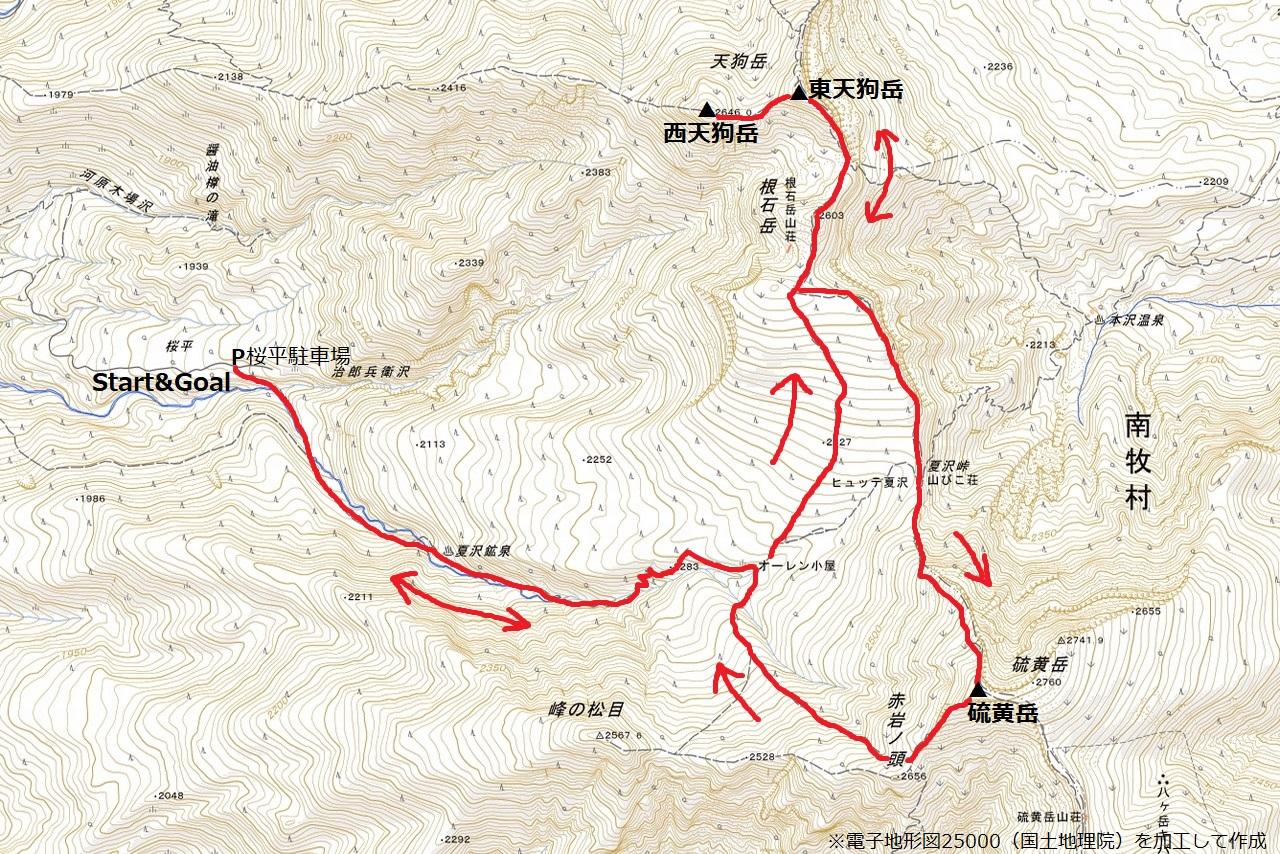 210725天狗岳-map
