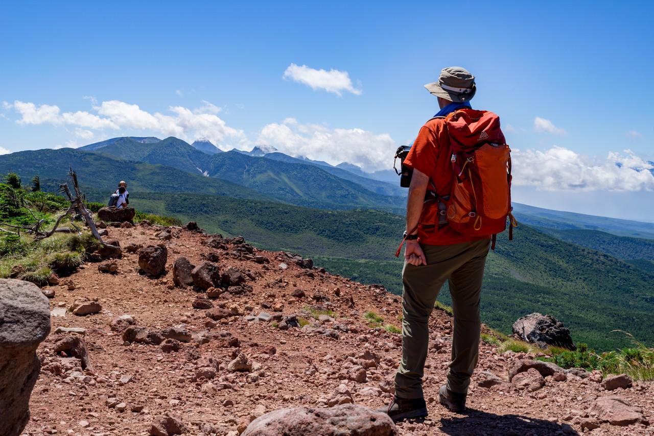 茶臼山展望台から見た南八ヶ岳