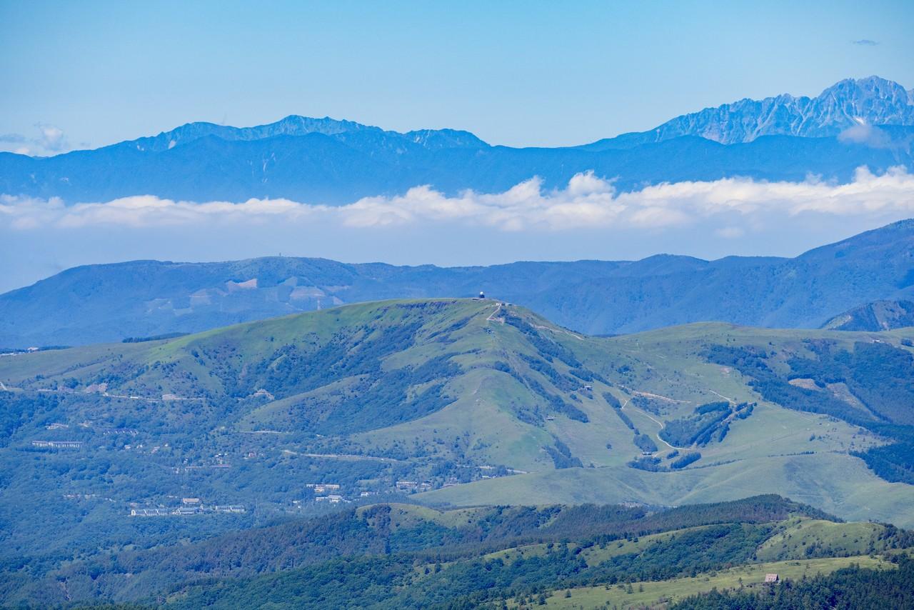 茶臼山展望台から見た霧ヶ峰