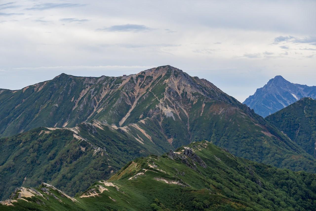 燕岳から見た大天井岳