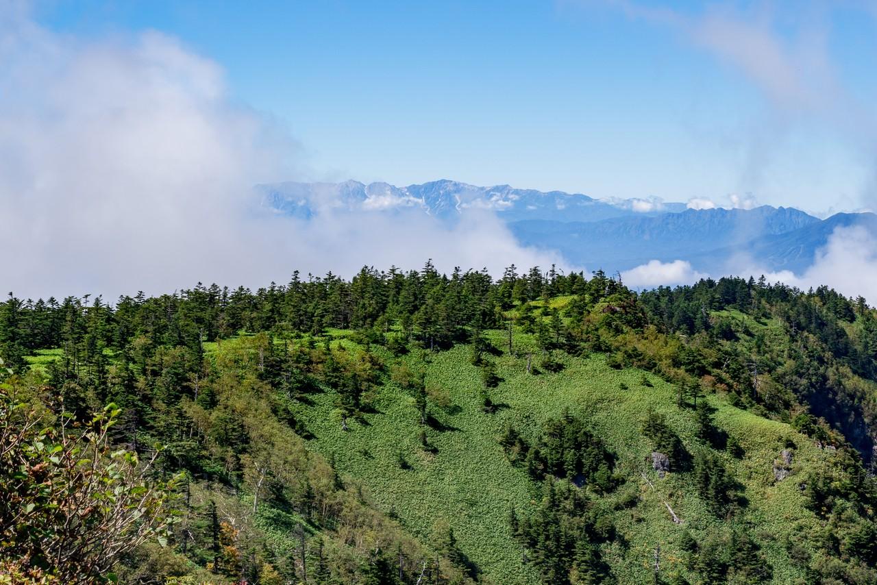 破風岳から見た白馬三山