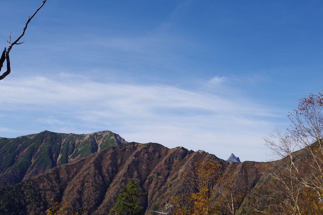合戦尾根から見た槍ヶ岳の穂先