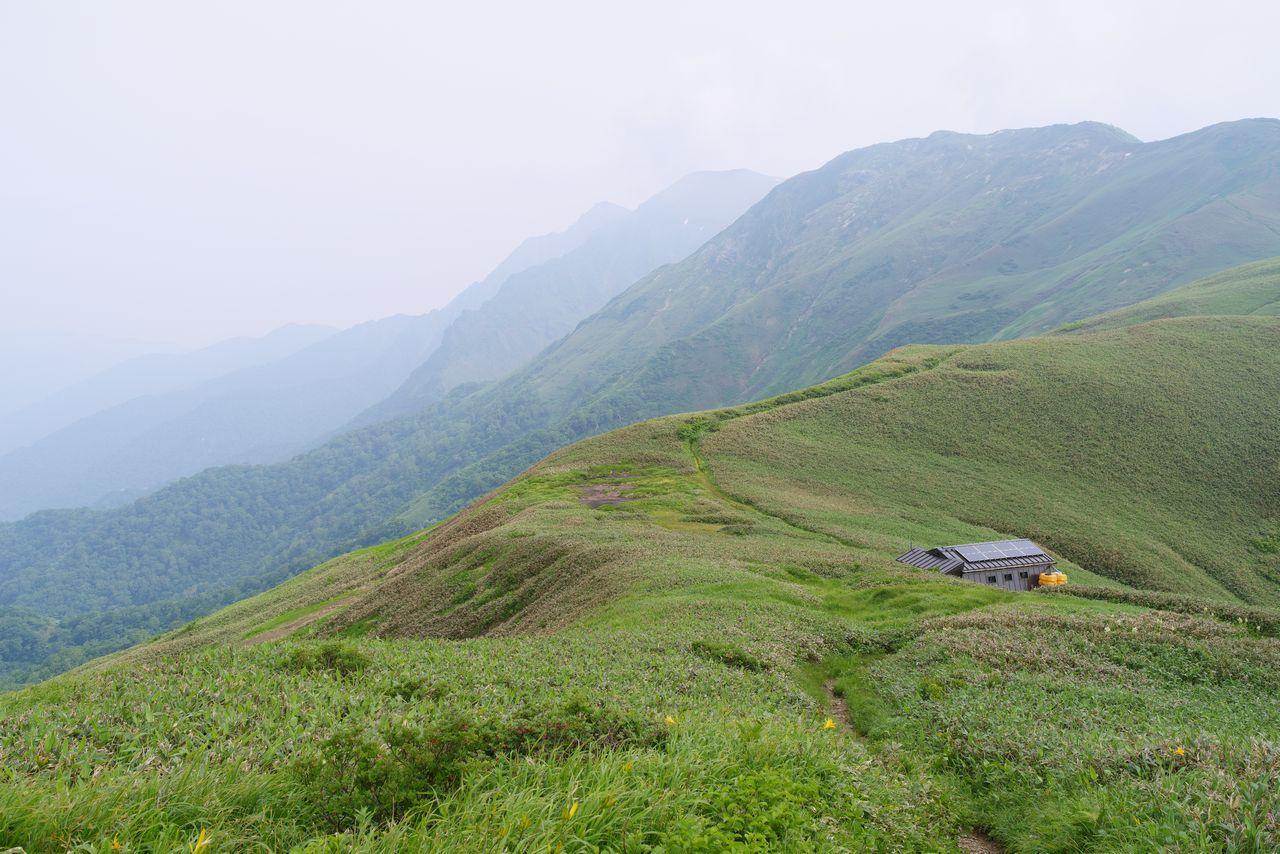谷川連峰 蓬ヒュッテ