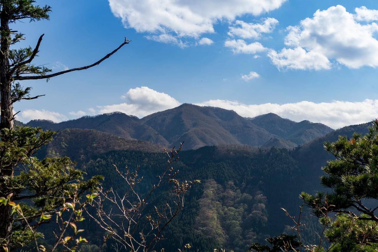 鋸尾根の天聖神社付近から見た御前山
