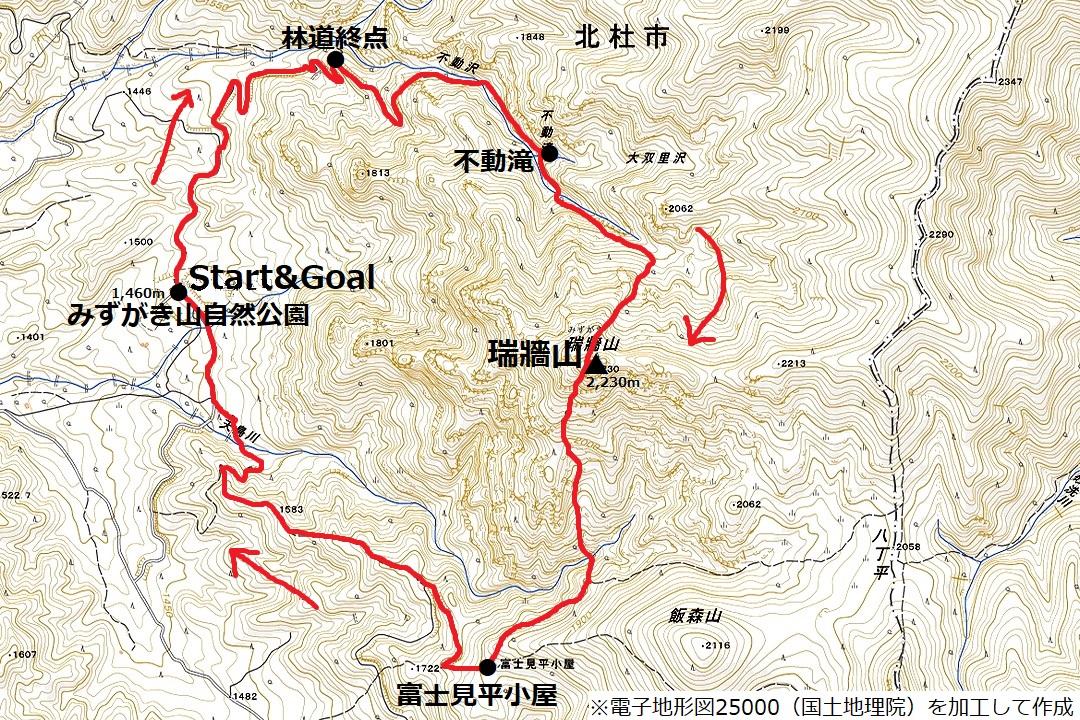 171103瑞牆山_map