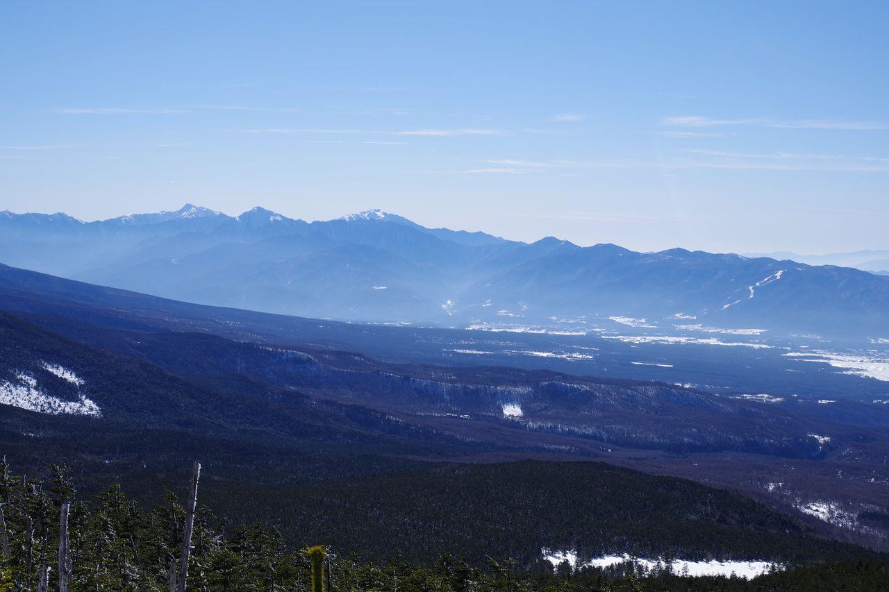 縞枯山から見た南アルプス