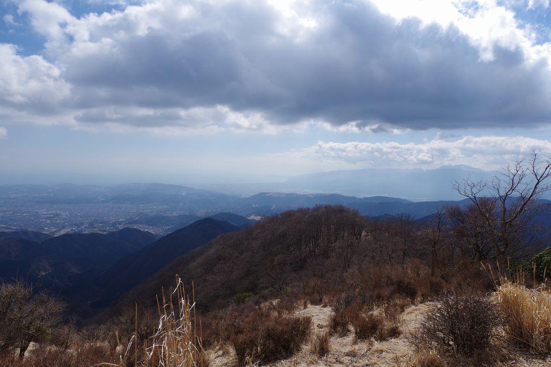鍋割山から見た箱根外輪山