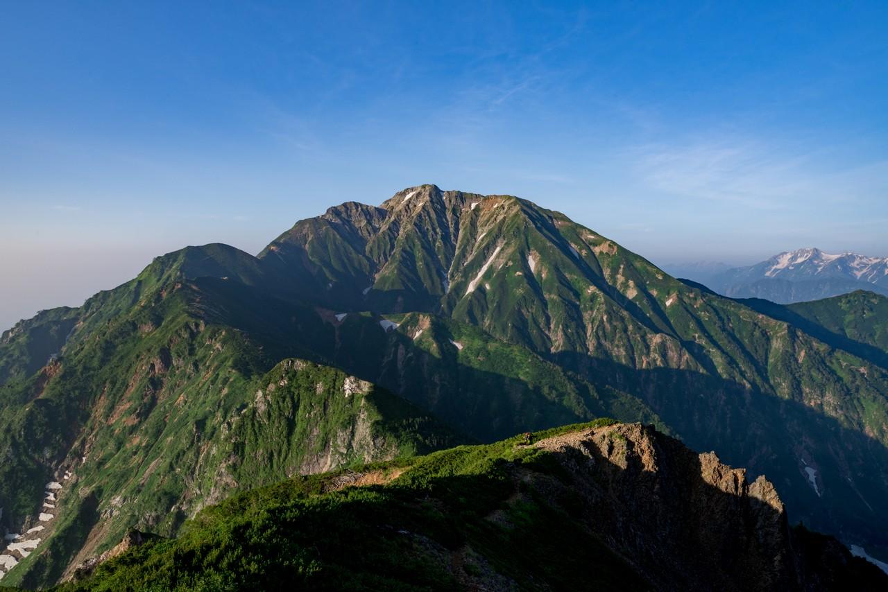 大黒岳付近からみた五竜岳